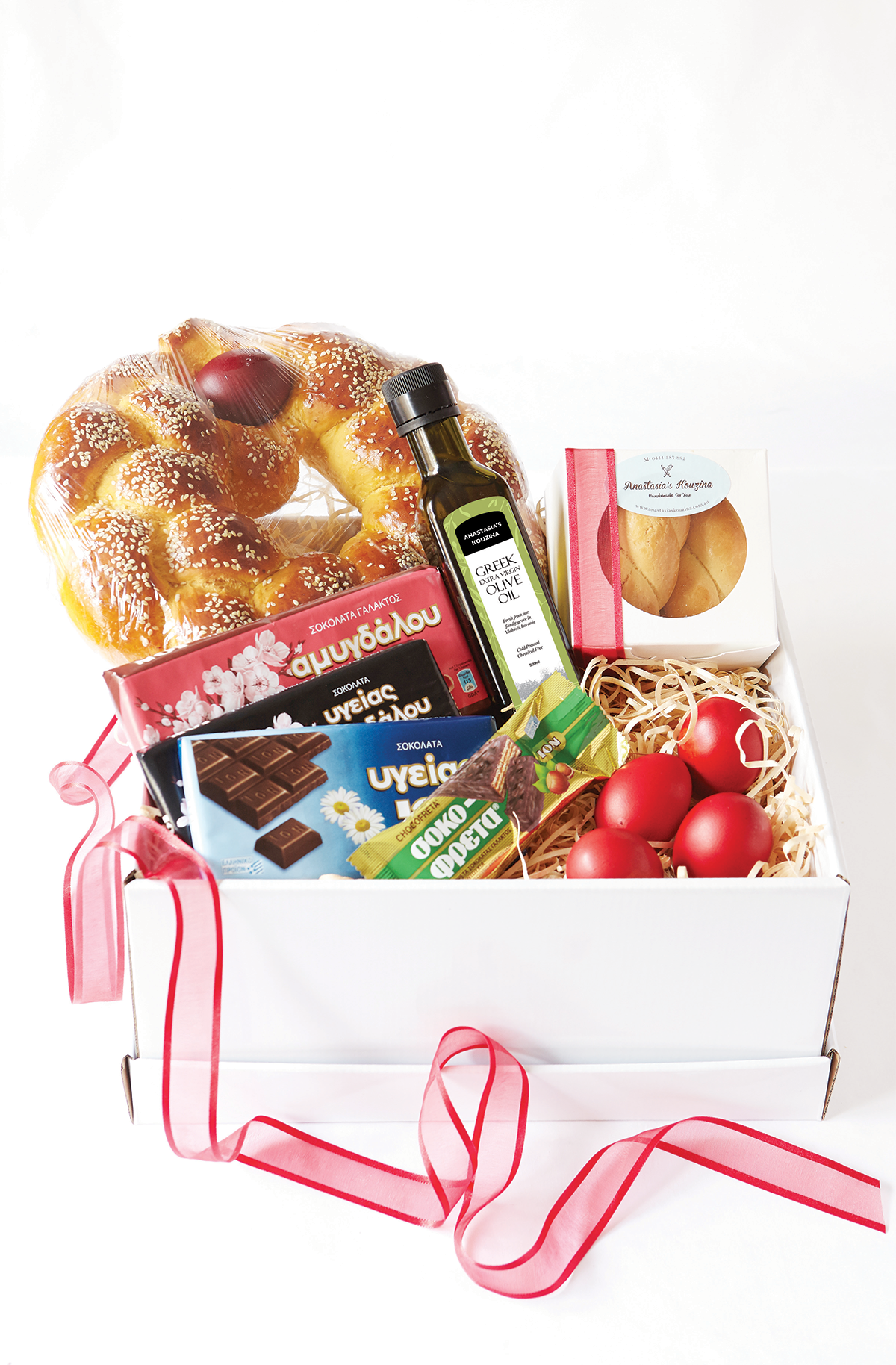 Easter hamper box anastasias kouzina greek sweets easter hamper box anastasiaskouzinaeasterhampercontents negle Images